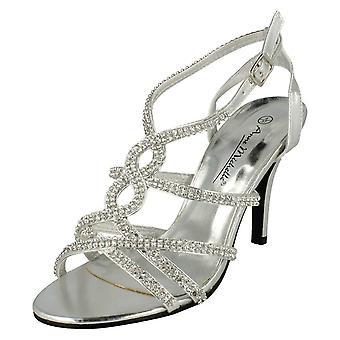 Damen Anne Michelle Stöckelschuhe Ankle Strap Sandal