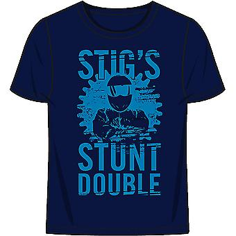 Official Top Gear 'The Stig Stunt Double' Mens T-Shirt - Blue