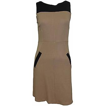 DP Petite Caramel Contrast Shift Dress DR440-8