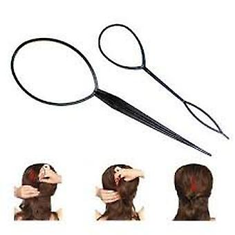 2pcs cheveux tresse queue de cheval Maker style outil par Boolavard® TM