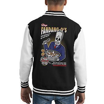 Rings Fandango Grim Cereal Kid's Varsity Jacket
