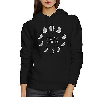 Moon Child Black Hoodie Halloween Costume Hooded Sweatshirt Fleece