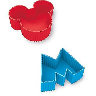 Conjunto de silicio 4 moldes de diseño de la torta de Mickey Mouse Disney