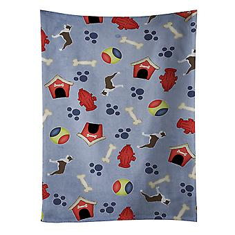 Boston Terrier Dog House Collection Kitchen Towel
