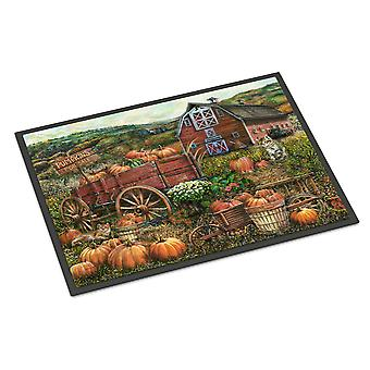 Pompoen Patch en val boerderij Indoor of Outdoor Mat 18 x 27