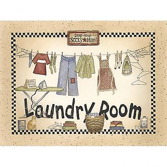 In the Laundry Room Poster Print by Linda Spivey (12 x 16)