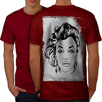 Legend Celebrity Marilyn Men RedT-shirt Back | Wellcoda