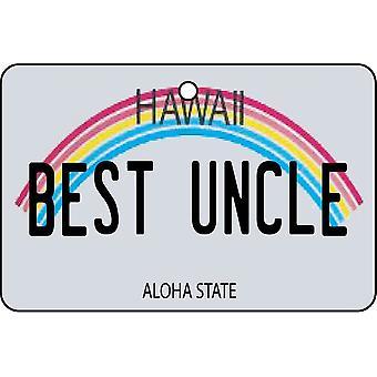 Hawaii - beste onkel lisens Plate bil Air Freshener