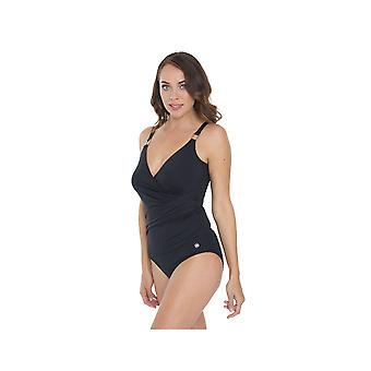 Seaspray SY007050 Women's Black Solid Colour Costume One Piece Swimsuit