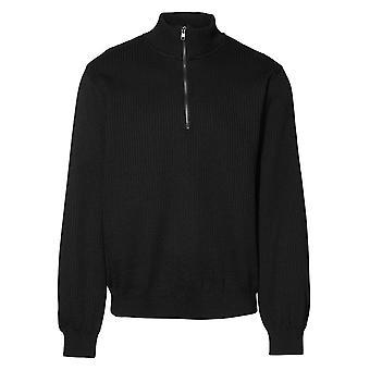 ID Mens Knitted Half Zip Pullover Fleece
