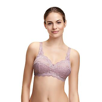 Susa 7814-319 Women's Latina Lavender Lace Non-Padded Non-Wired Support Coverage Full Cup Bra