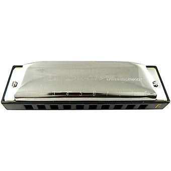 Swan 10 Hole Special-tune Harmonica Key of F - Silver