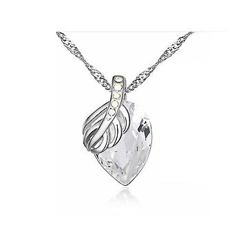 Womens Pendant Necklace Leaf Theme with Chain Charm