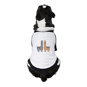 Llama Pattern Pet Baseball Jersey Small Dogs Clothes