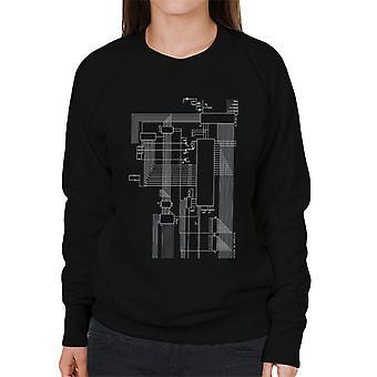 Dragon 32 Computer Schematic Women's Sweatshirt