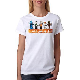T-shirt blanc le cinquième élément 8 Bit casting féminin