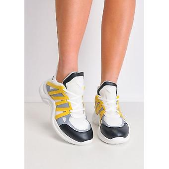 Contrast getoogd enige Chunky Trainers geel