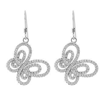 Orphelia Silver 925 Drop Earring Butterfly Zirconium  ZO-5264
