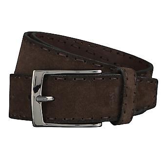 OTTO KERN belts men's belts leather belt dark brown 4486