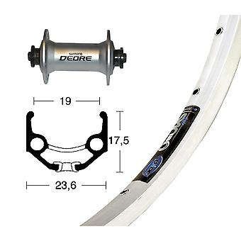 Bike parts 28″ front wheel Rigida Zac 19 + SHIMANO DEORE (QR)