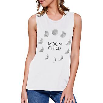 Moon Child Womens Halloween Muscle Muscle graphique mignon haut T-Shirt