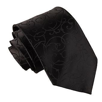 Klassische Krawatte schwarz Swirl
