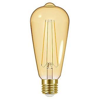 1 X Energizer LED ST64 Energy Saving Lightbulb ES/E27 470lm Warm White[Energy Class A+]