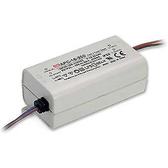 Mean Well APC-16-350 LED driver Constant current 16 W 0.35 A 12 - 48 Vdc not dimmable, Surge protection