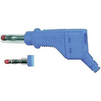 Stäubli XZGL-425 rechte blade stekker stekker, rechte Pin diameter: 4 mm blauw 1 PC('s)