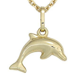 Kids pendant Dolphin Dolphin 333 gold yellow gold Dolphin pendant children's jewellery