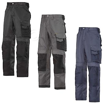 Snickers Duratwill Trousers with Kneepad Pockets . (3 Colours/L-XL leg)-3312C