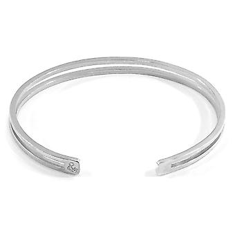 Anchor & Crew Brady Outline Midi Geometric Silver Bangle