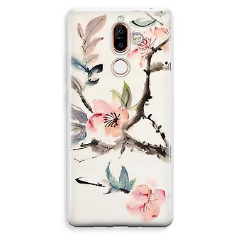 Nokia 7 Plus transparentes Gehäuse (Soft) - Japenese Blumen