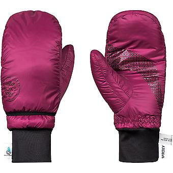 Roxy Womens Packable Warm Snowboard Ski Mittens Gloves