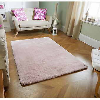 Tapetes de maciez rosa retângulo tapetes liso/quase lisos