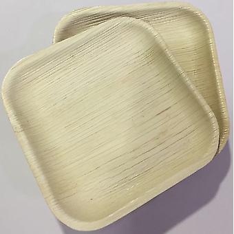 Platos fiestas desechables eco-friendly - 22cm cuadrado (25 platos)
