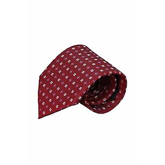 Rode zijden stropdas Itala 01