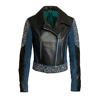 "JN Llovet leather jacket - ""Crystal"""