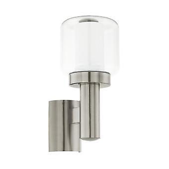 Lámpara de pared exterior Poliento IP44 Eglo acero inoxidable