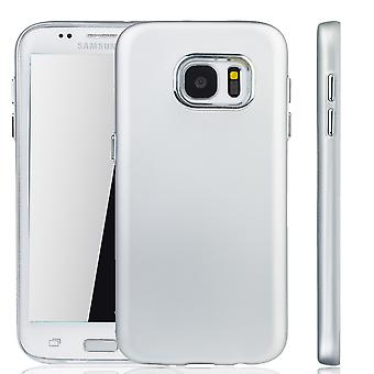 Samsung Galaxy S7 kanten - mobiltelefon tilfelle for Samsung Galaxy S7 kant - sølv mobiltelefon sak