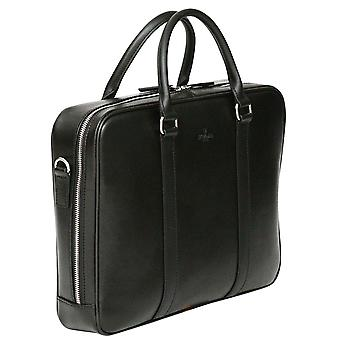 S Babila Saffiano Leather Briefcase Laptop Business Bag With Tablet Pocket