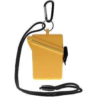Witz Surfsafe lichtgewicht waterdichte Sport Case w / Lanyard & Carabiner - geel