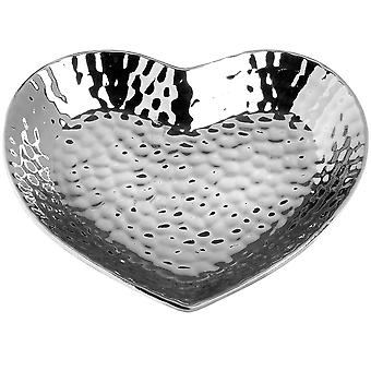 Hill Interiors Ceramic Dimple Effect Heart Dish Dimple Effect