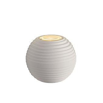 Lucide Ayo moderne Runde weiße Wandleuchte Aluminium