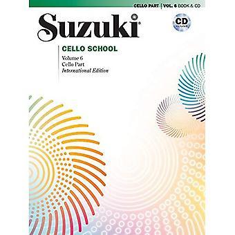 Suzuki violoncelle école, Vol 6: Partie de violoncelle, livre & CD