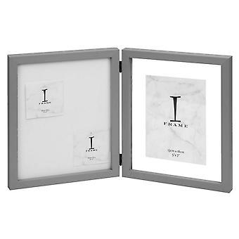 Juliana iFrame Hinged Pin styret fotoramme 5 x 7 - grå