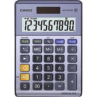 Casio MS-100TERII Desk calculator Purple, Grey Display (digits): 10 solar-powered, battery-powered (W x H x D) 103 x 29 x 147 mm