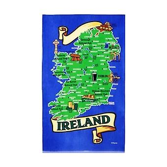 Union Jack Wear Map Of Ireland Tea Towel