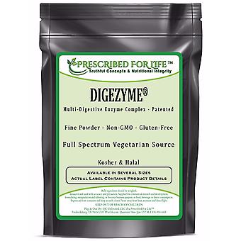 Digestive Enzyme Complex Powder - Full Spectrum Patented All Vegetarian Source by DigeZyme (R)