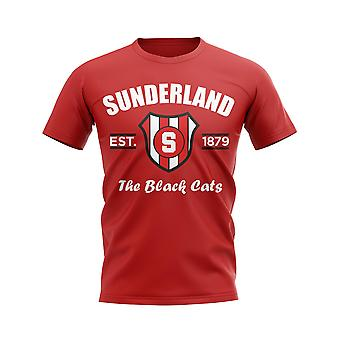 Sunderland perustettiin jalka pallo T-paita (punainen)